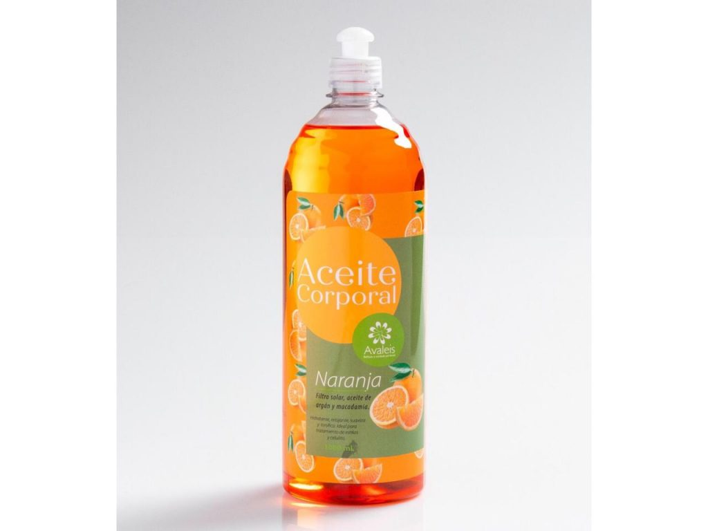 Aceite corporal de naranja de Avaleis
