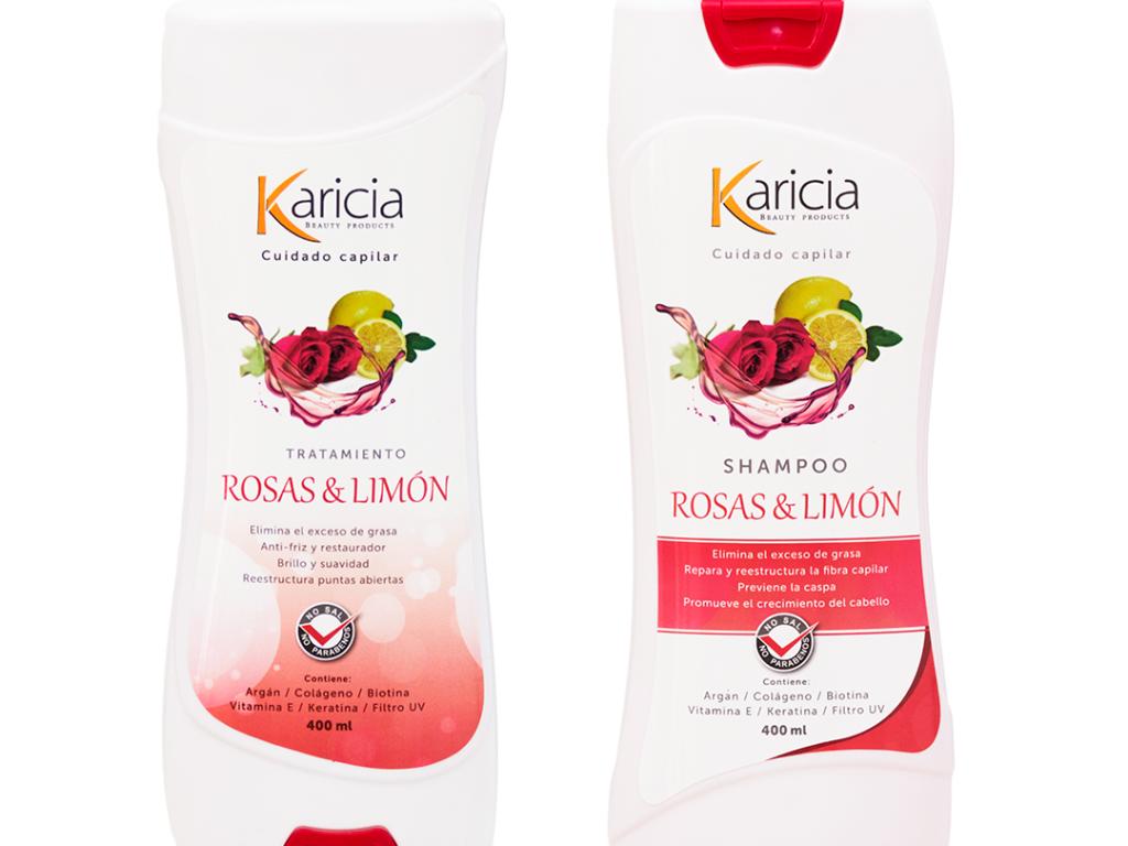 Shampoo Y Tratamiento Rosas Y Limón Karicia