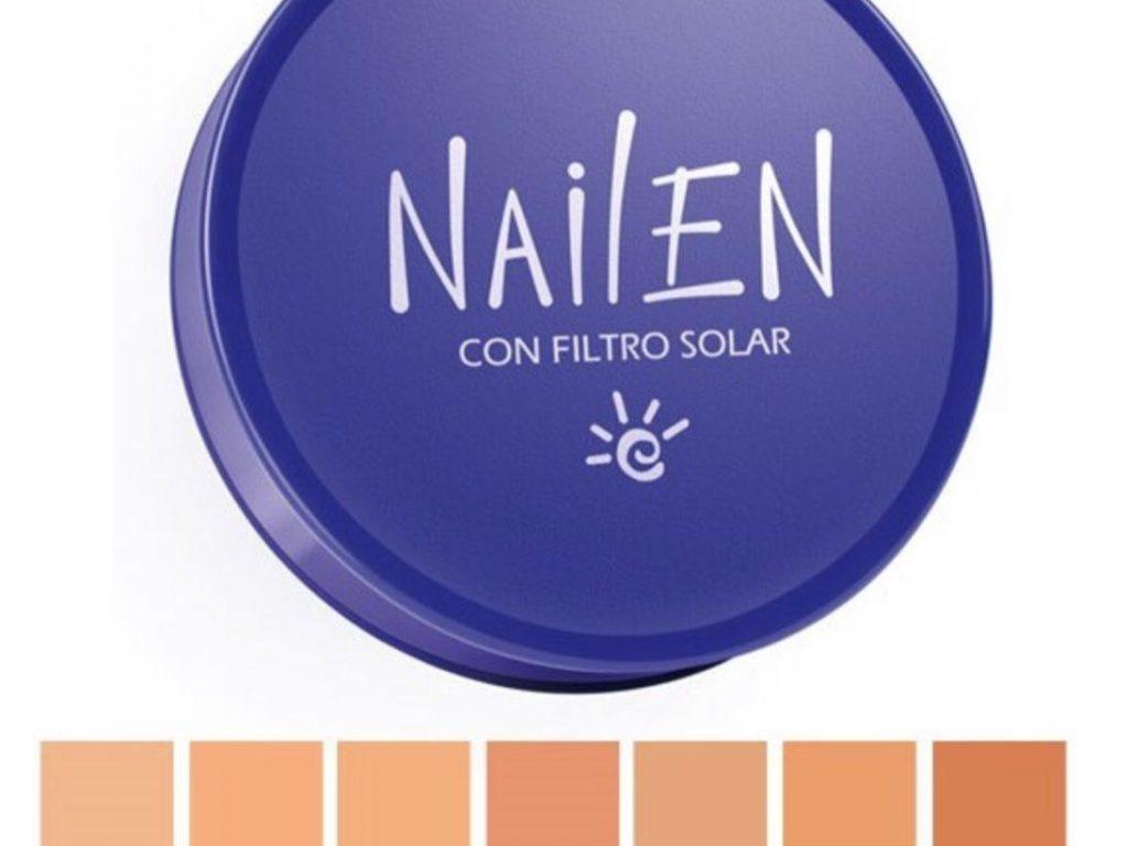 Polvo Nailen con filtro solar