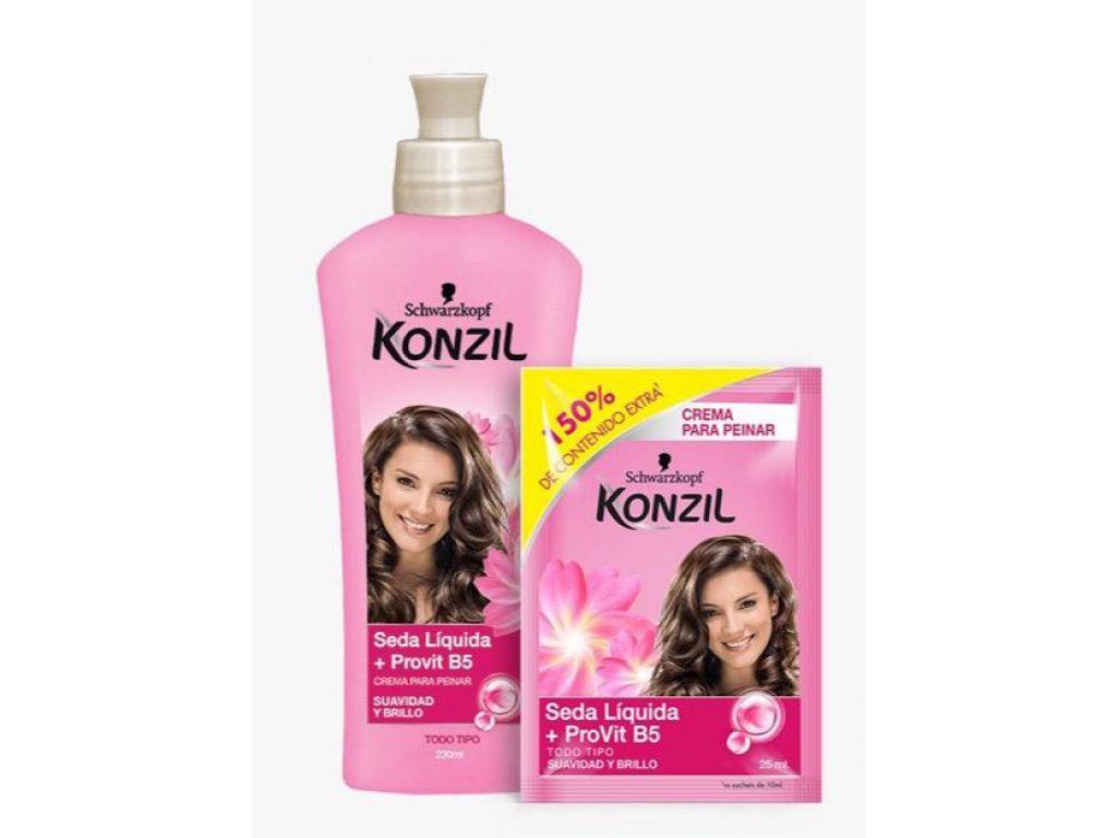 Crema de peinar de Konzil seda líquida +  Provitamina B5