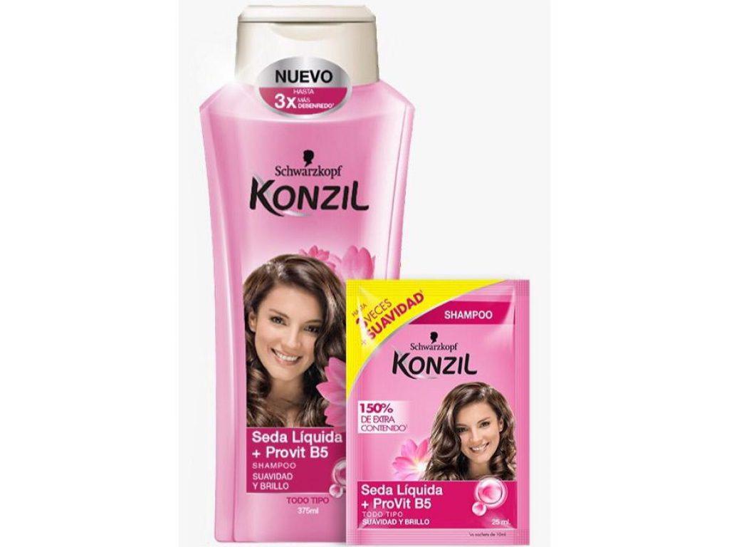 Shampoo de Konzil seda líquida +  Provitamina B5