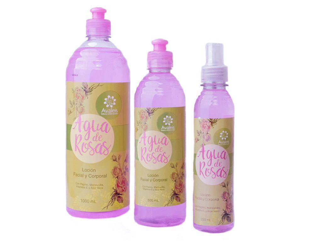 Agua de rosas Avaleis x 1000mL, x 500mL, x250mL