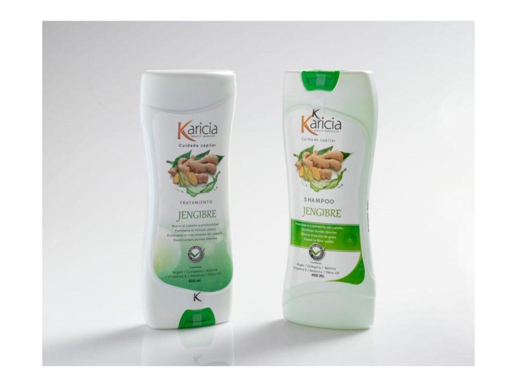 Shampoo y tratamiento de jengibre